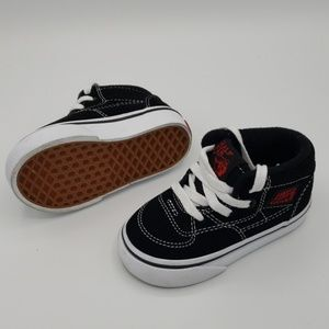 Vans Shoes - Vans Half Cab Blk Red TODDLER Size 4